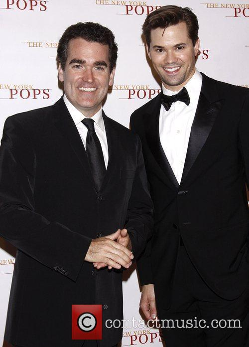 Brian d'Arcy James and Andrew Rannells The New...