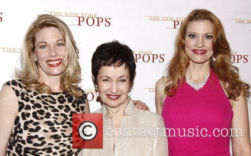 Marin Mazzie, Lynn Ahrens and Rachel York The...