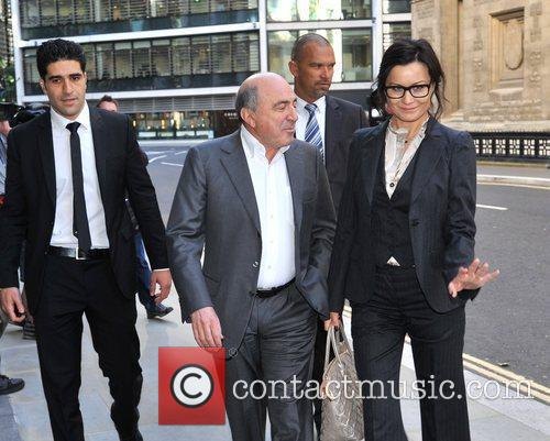 Boris Berezovsky arrives at the Royal Courts of...