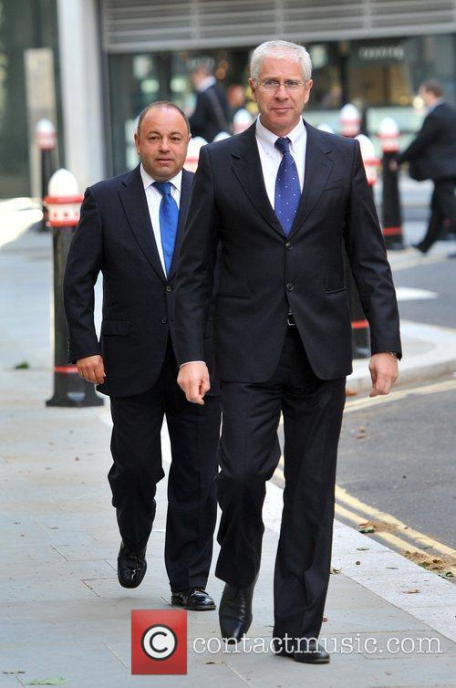 Arrives at the Royal Courts of Justice for...