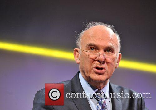 Business Secretary Vince Cable delivers his address at...