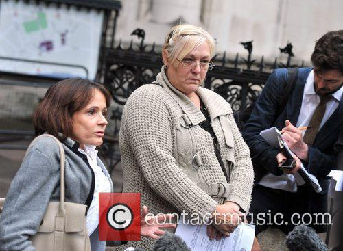 L-r, Solicitor Jocelyn Cockburn, Susan Smith, Royal Courts, Justice, British and Iraq 2