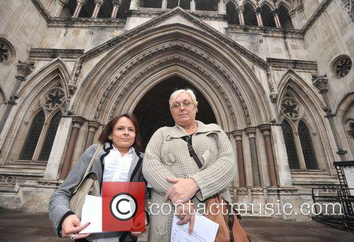 L-r, Solicitor Jocelyn Cockburn, Susan Smith, Royal Courts, Justice, British and Iraq 1