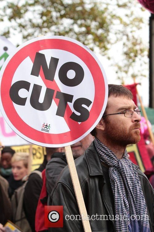 Atmosphere Tens of thousands of trade unionists march...