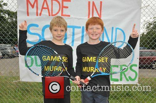 Residents of Andy Murray's home town of Dunblane...