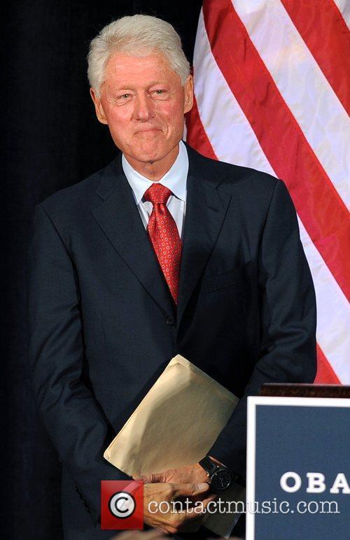 Former US president Bill Clinton speaks at Florida...