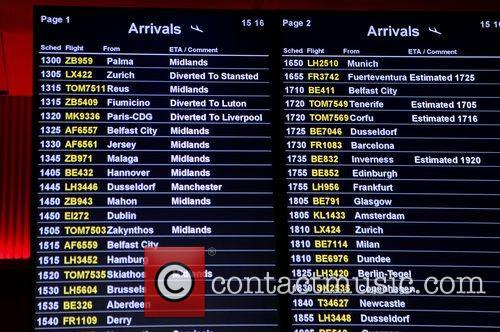 Planes are diverted from Birmingham Airport after a...