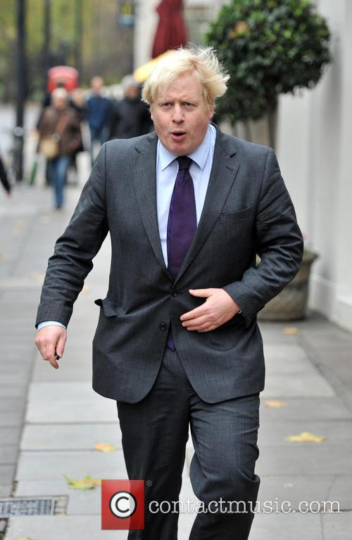Mayor of London Boris Johnson arrives at Grosvenor...