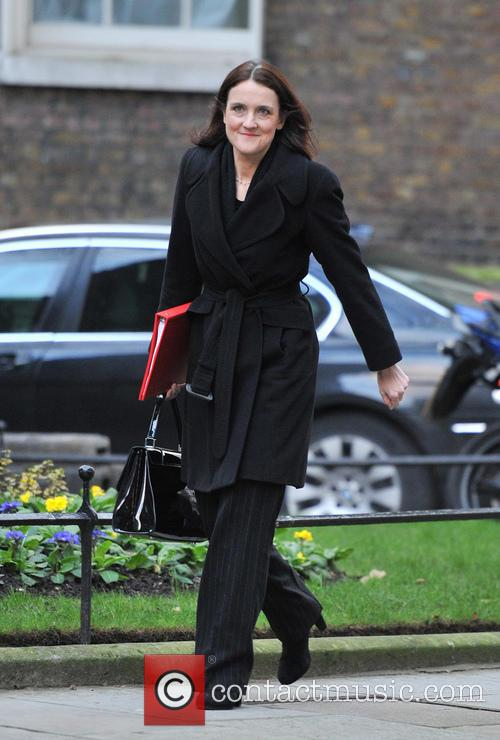 Theresa Villiers Ministers arrive for a Cabinet meeting...