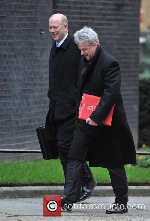 Chris Grayling and Andrew Lansley Ministers arrive for...