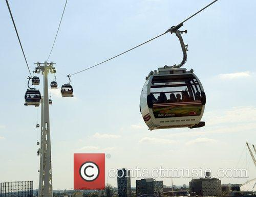 Emirates Air Line, a cable car crossing above...