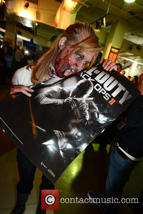 Zombies at the midnight launch of 'Call of...
