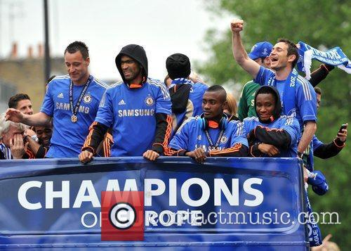 John Terry, Frank Lampard and Salomon Kalou 6