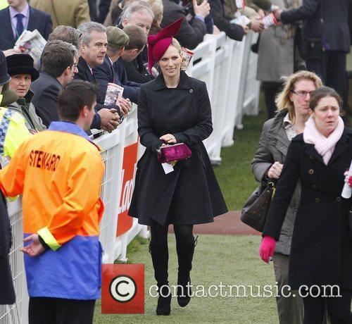 Zara Phillips walking amongst spectators on day 3...