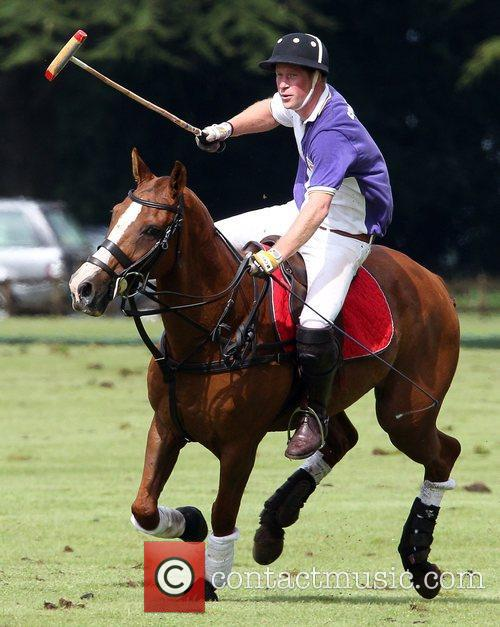 Plays in a polo match at Cirencester Polo...