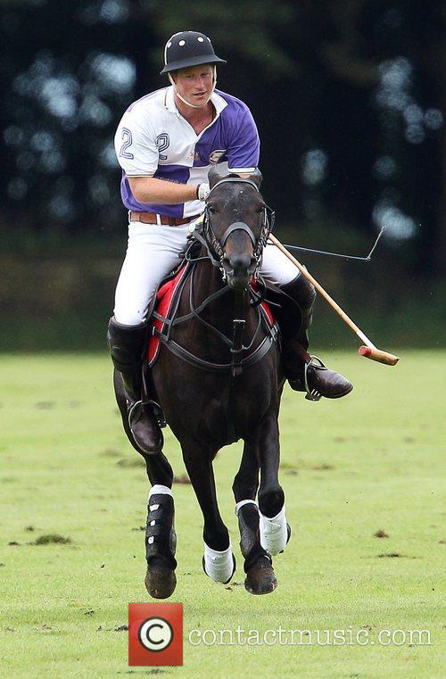 prince harry plays in a polo match 4021514