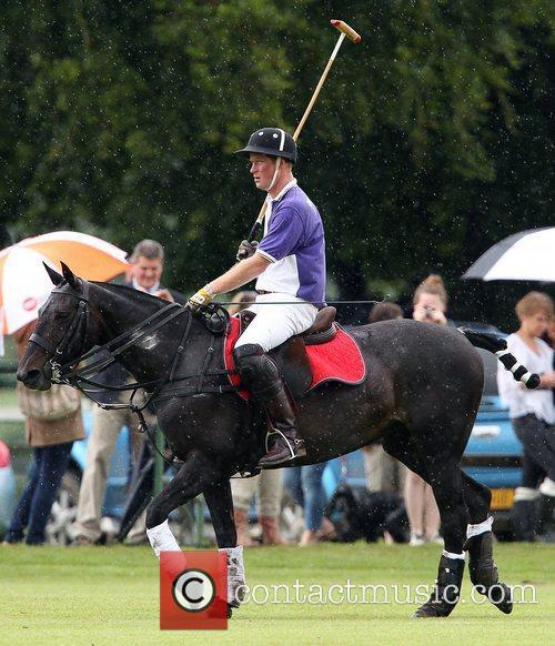 prince harry plays in a polo match 4021698