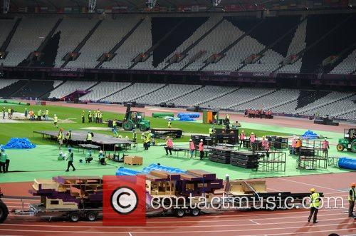 Preparations are underway for tonight's closing ceremony of...