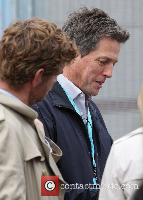 Hugh Grant leaving the Conservative Party Conference 2012...