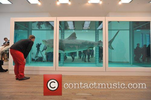 Damien Hirst exhibition press view held at the...