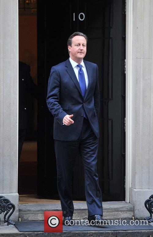 Prime Minister David Cameron awaits the Mexican President-elect...