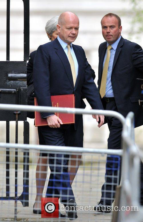 William Hague and 10 Downing Street 2