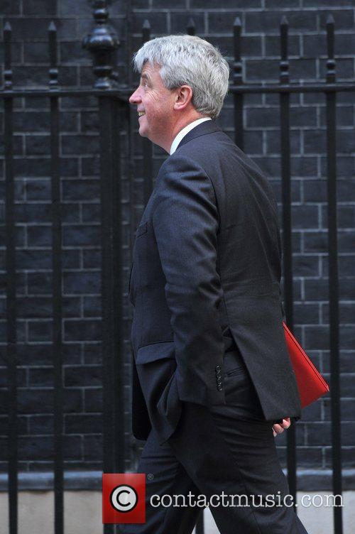 Andrew Lansley Ministers arrive at 10 Downing Street...