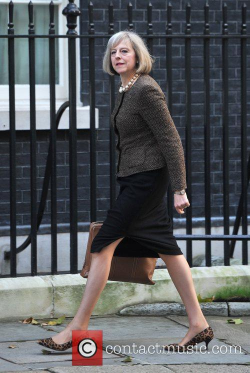 Theresa May Ministers arrive at 10 Downing Street...