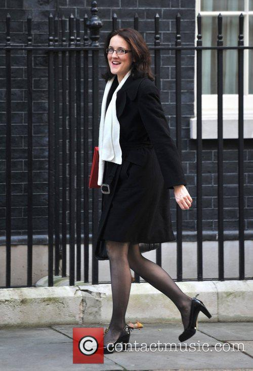 Theresa Villiers Ministers arrive at 10 Downing Street...