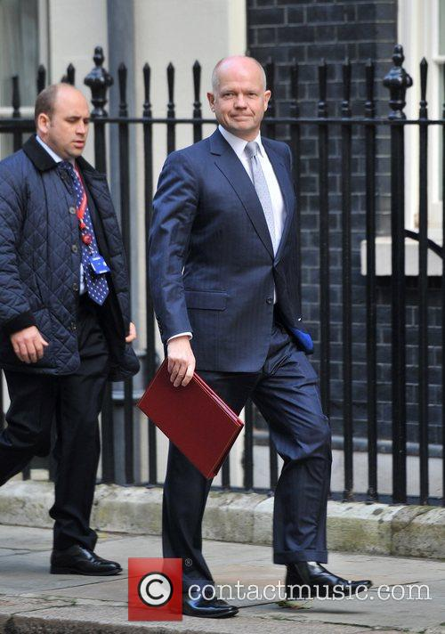 William Hague Ministers arrive at 10 Downing Street...