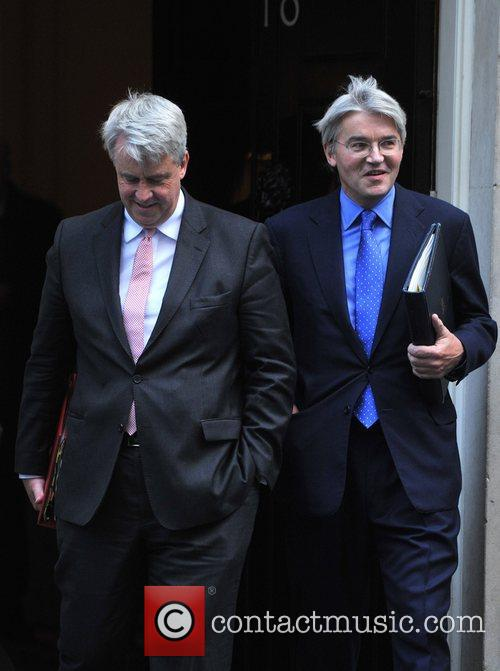Andrew Lansley (L) and Andrew Mithchell (R) Ministers...
