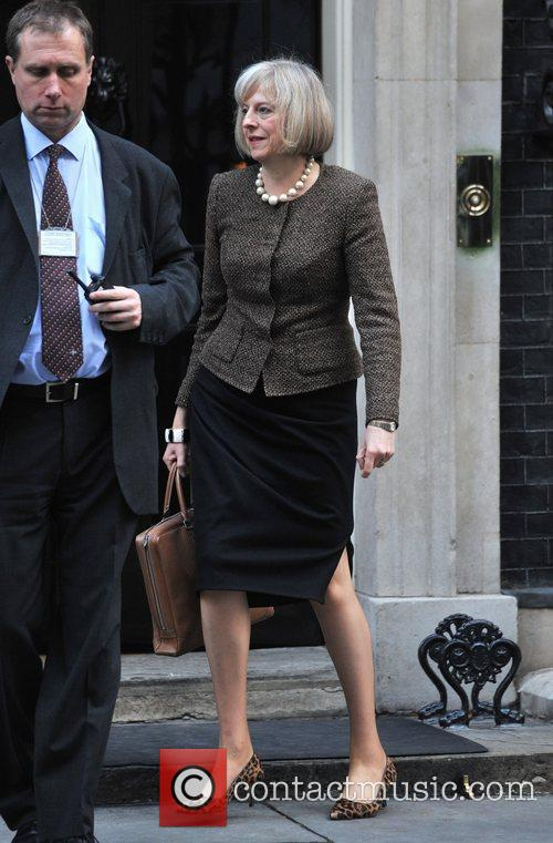 Theresa May Ministers leave 10 Downing Street after...