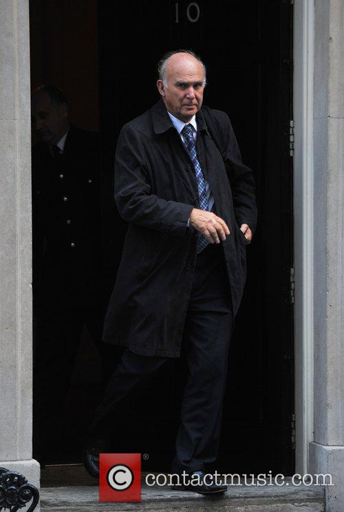 Vince Cable Ministers leave 10 Downing Street after...