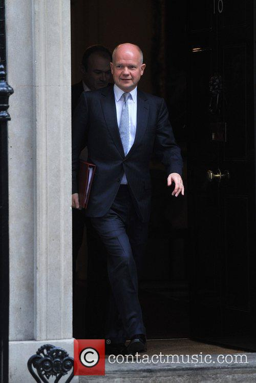 William Hague Ministers leave 10 Downing Street after...