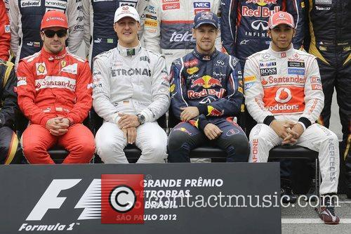 Fernando Alonso, Michael Schumacher, Sebastian Vettel, Lewis Hamilton, Brazilian Formula, Grand Prix and Interlagos 1