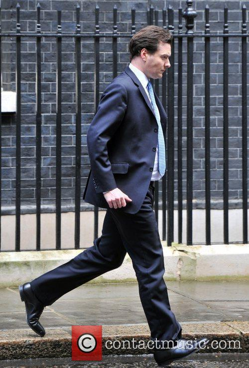 Chancellor George Osborne leaves 10 Downing Street after...