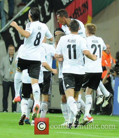 The 2012 European Championships Quarter Final between Germany...