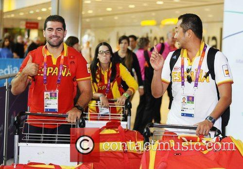 Athletes and members of the Spain 2012 Olympic...
