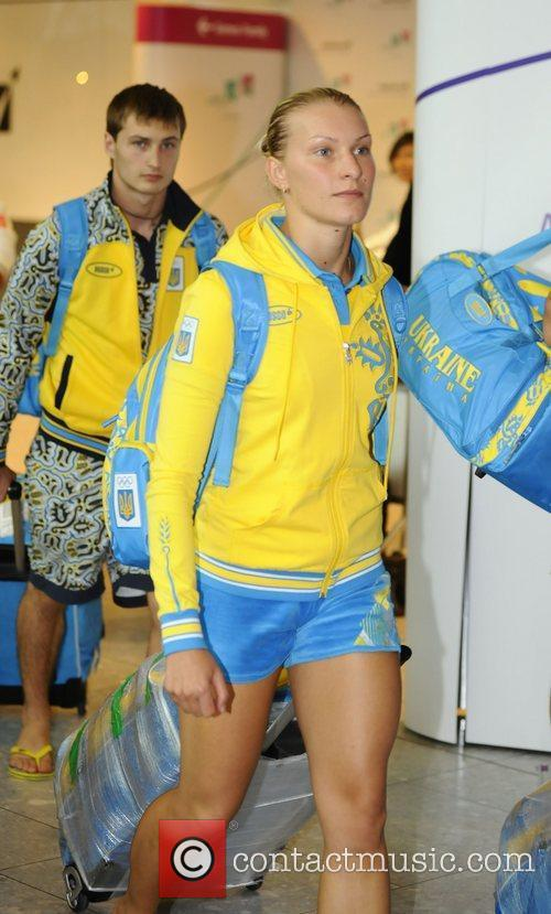 Athletes and members of the Ukraine 2012 Olympic...
