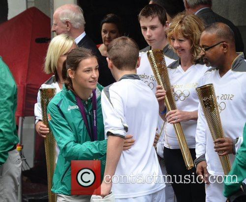 A civic reception is held for the Irish...