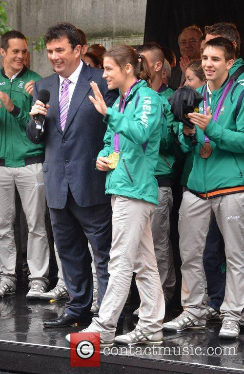 Katie Taylor and Des Cahill A civic reception...