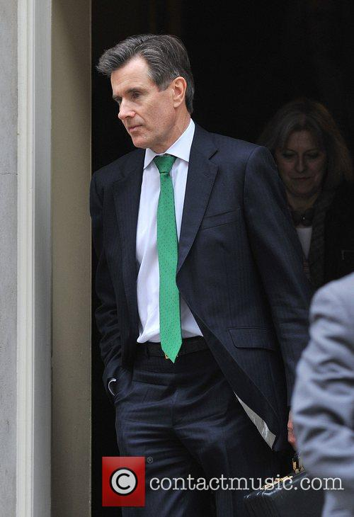Head of MI6, Sir John Sawers. Ministers leave...