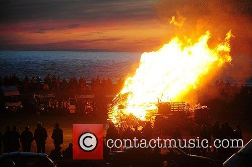 a beacon at liverpool bay is lit 3926278