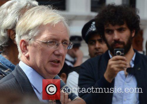 Craig Murray Julian Assange makes a statement from...