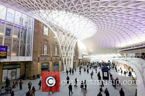 The new £550 million concourse at Kings Cross...