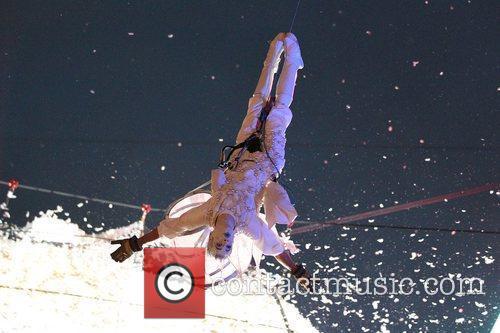 Les Studios De Cirque performing the finale in...
