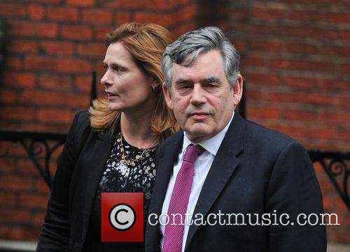 Gordon Brown arrives at the Royal Courts of...
