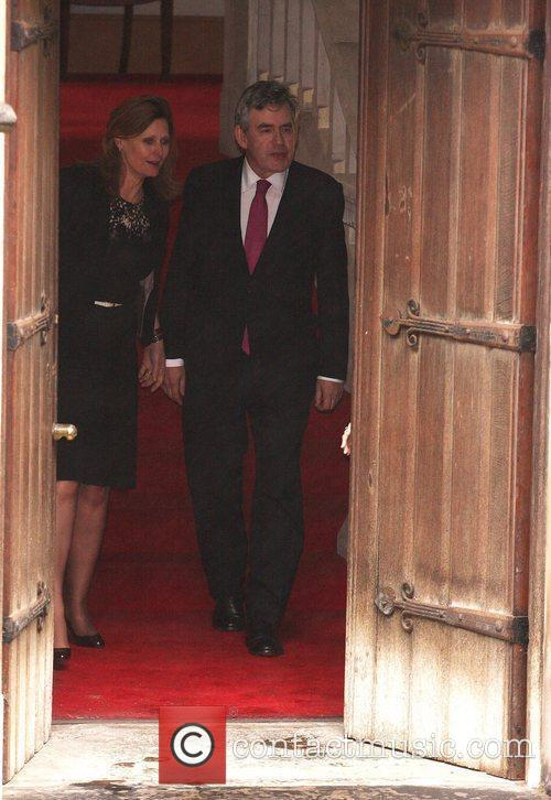 Gordon Brown leaves the Royal Courts of Justice...
