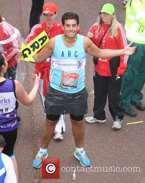 James Argent  The 2012 Virgin London Marathon...