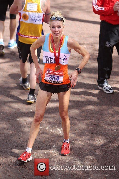 Nell McAndrew  The 2012 Virgin London Marathon...